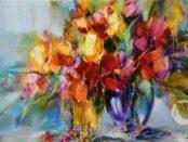 Manajló András - Tavasz színei festmény